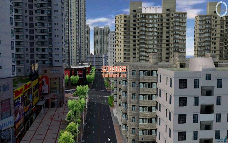 广州市三维仿真地图